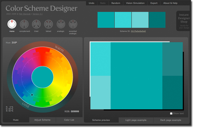 Site \'O The Week : Color Scheme Designer - Household Name Blog