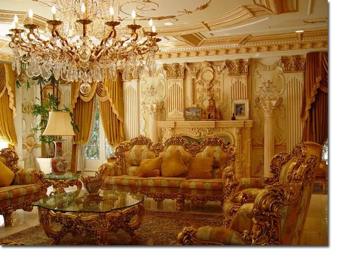 黄金色のゴージャスなお部屋 ...