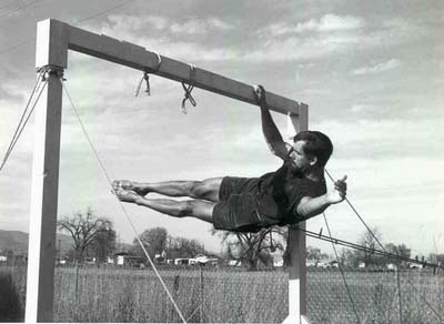 John Gill one-arm front lever