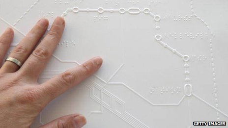 Braille Metro Map