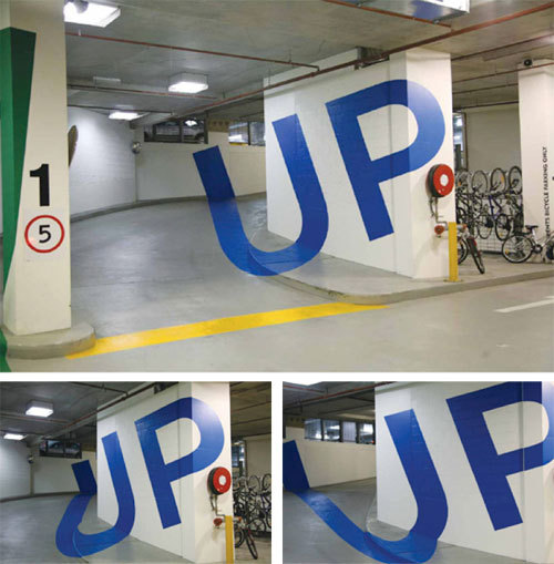 Optical Illusion Car Park