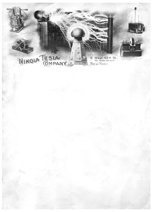 Nikola Tesla's Letterhead